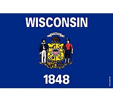 Wisconsin State Flag Photographic Print