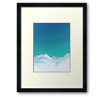 Snow Capped Mountains Framed Print