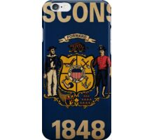 Wisconsin State Flag VINTAGE iPhone Case/Skin