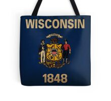 Wisconsin State Flag VINTAGE Tote Bag