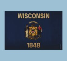 Wisconsin State Flag VINTAGE Kids Clothes
