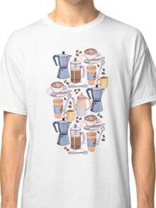 Coffee Love on Yellow Classic T-Shirt
