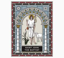 ST JOHN THE BAPTIST under STAINED GLASS One Piece - Short Sleeve