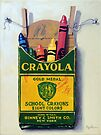 Box of Crayola Crayons painting by LindaAppleArt