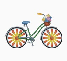 Flower Power Bicycle by Kim  Harris
