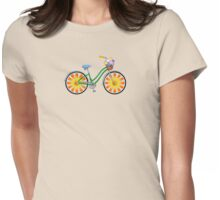 Flower Power Bicycle Womens Fitted T-Shirt