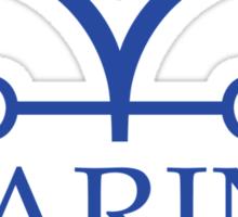 Marine White Flag Sticker