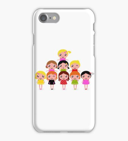 Cute little kids. Cartoon illustration. iPhone Case/Skin