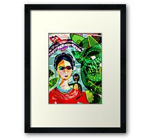 Frida at the Riverwalk Framed Print
