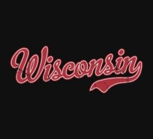 Wisconsin Script VINTAGE Red by USAswagg2