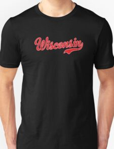Wisconsin Script VINTAGE Red T-Shirt