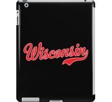 Wisconsin Script Red iPad Case/Skin