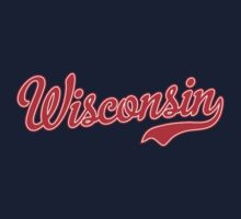 Wisconsin Script Red Kids Clothes