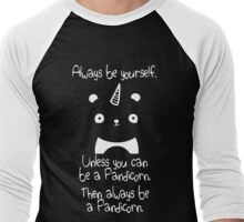 Be A Pandicorn Be Yourself Men's Baseball ¾ T-Shirt