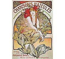 Alphonse Mucha - Chansons Daeules Photographic Print