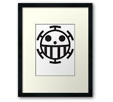 Heart Pirates Jolly Roger Framed Print