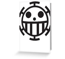 Heart Pirates Jolly Roger Greeting Card