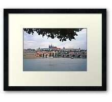 View across the river towards the Castle, Prague Framed Print
