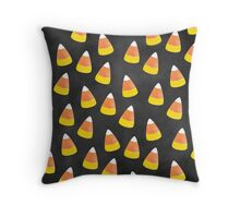 Candy Corn Mania in Chalkboard Throw Pillow