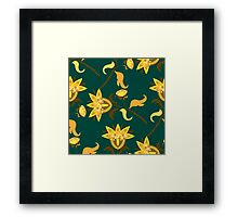 Yellow floral pattern Framed Print