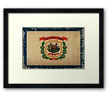 West Virginia State Flag VINTAGE Framed Print