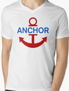 Luffy Anchor Mens V-Neck T-Shirt