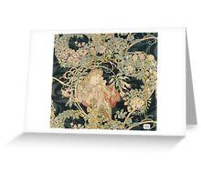 Alphonse Mucha - Eugene Samuel Grasset - Alphonse Mucha - Femme a La Marguerite1899  Greeting Card