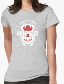 Frog?  No. Hippo. Womens Fitted T-Shirt