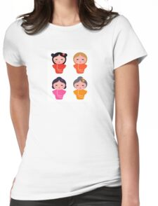 Colorful Geisha characters : original Artworks Womens Fitted T-Shirt