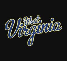 West Virginia Script Blue by USAswagg2