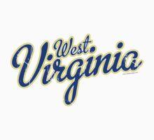 West Virginia Script Blue Kids Clothes