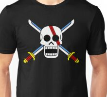 Red Hair Pirates Jolly Roger Unisex T-Shirt