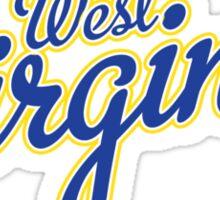 West Virginia Script Blue Sticker