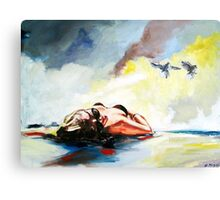 Summertime (day at the beach) Canvas Print