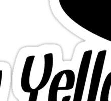 I Heart My Yellow Lab Sticker