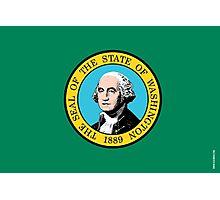 Washington State Flag Photographic Print