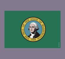 Washington State Flag Kids Clothes