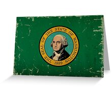 Washington State Flag VINTAGE Greeting Card