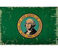 Washington State Flag VINTAGE Photographic Print