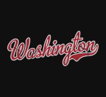 Washington Script Red VINTAGE by USAswagg2