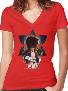 strangerthings Women's Fitted V-Neck T-Shirt