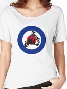 mod mods vespa girl girly for girls motor bike retro vintage Women's Relaxed Fit T-Shirt