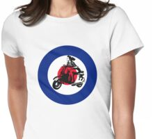 mod mods vespa girl girly for girls motor bike retro vintage Womens Fitted T-Shirt