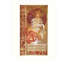 Alphonse Mucha - Guide Officiel Des Sections Autrichiennes De L Exposition Universelle De Paris Art Print
