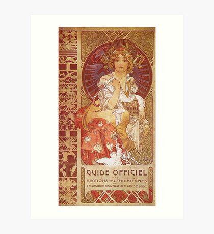 Alphonse Mucha - Guide Officiel Des Sections Autrichiennes De L Exposition Universelle De Paris Art Print