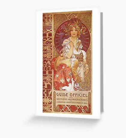Alphonse Mucha - Guide Officiel Des Sections Autrichiennes De L Exposition Universelle De Paris Greeting Card