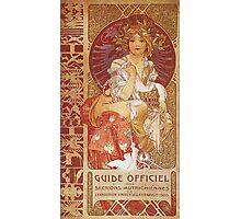 Alphonse Mucha - Guide Officiel Des Sections Autrichiennes De L Exposition Universelle De Paris Photographic Print