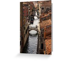 Red Roofs of Venice Greeting Card
