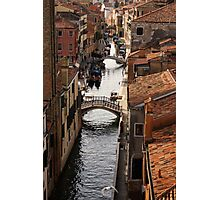 Red Roofs of Venice Photographic Print