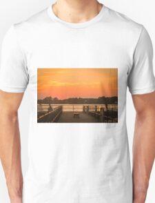 Fishing at Dusk Unisex T-Shirt